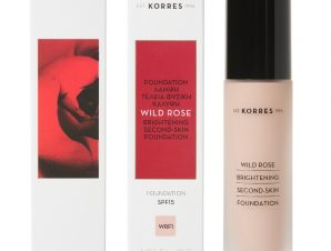 Korres Wild Rose Foundation SPF15 WRF1 , Άγριο Τριαντάφυλλο Make-Up 30ml