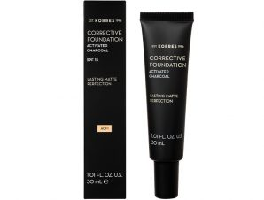 KORRES Corrective Foundation Activated Charcoal SPF15 ACF1 30ml