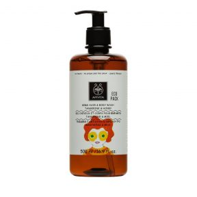 APIVITA KIDS Hair&Body Wash Eco Pack Με Μαντερίνη&Μέλι 500ml