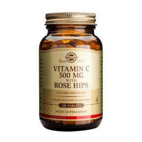 SOLGAR Vitamin C with Rose Hips 500mg 100TABS