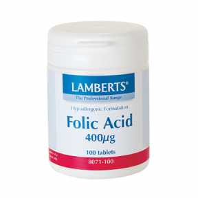 LAMBERTS Folic Acid 400mg 100 Tabs 8071