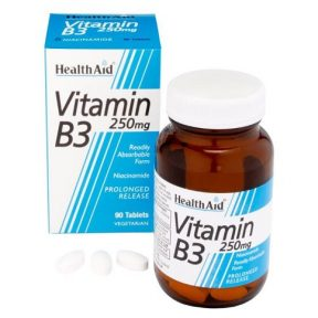 HEALTH AID Vitamin B3 250mg 90Tabs