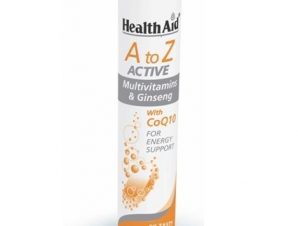 HEALTH AID A to Z Active Multivitamins & Ginseng 20 Eff.Tabs