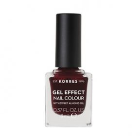 KORRES Gel Effect Nail Colour 57 Burgundy Red 11ml