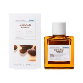 Korres Mountain Pepper Eau De Toilette Ανδρικό Άρωμα 50ml