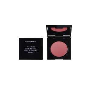 Korres Wild Rose Brightening Vibrant Colour Blush Dusty Rose No.24 Άγριο Τριαντάφυλλο Ρουζ 5.5gr